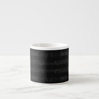 Striped Argyle Embellished Grey Espresso Cup
