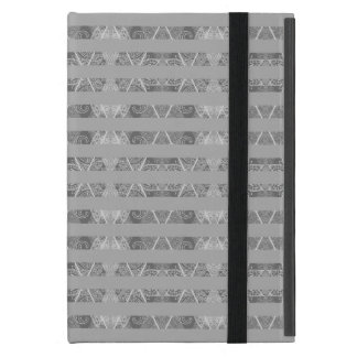 Striped Argyle Embellished Grey iPad Mini Cases