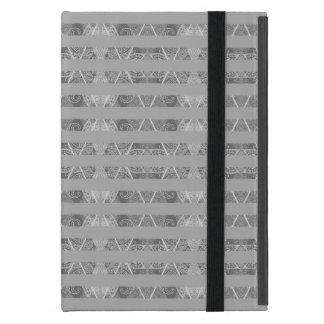Striped Argyle Embellished Grey iPad Mini Cover