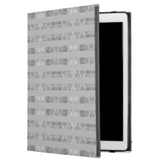 """Striped Argyle Embellished Grey iPad Pro 12.9"""" Case"""