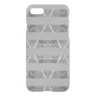 Striped Argyle Embellished Grey iPhone 8/7 Case