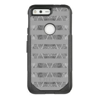 Striped Argyle Embellished Grey OtterBox Commuter Google Pixel Case