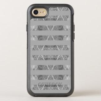 Striped Argyle Embellished Grey OtterBox Symmetry iPhone 7 Case