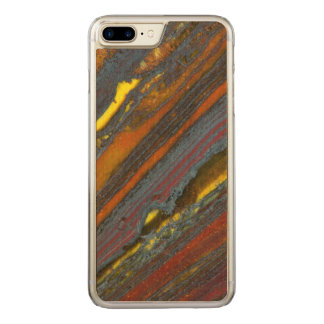 Striped Australian Tiger Eye Carved iPhone 7 Plus Case