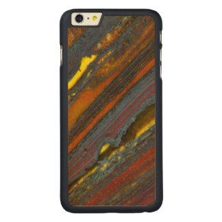 Striped Australian Tiger Eye Carved® Maple iPhone 6 Plus Case