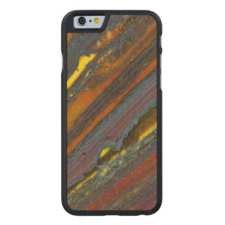 Striped Australian Tiger Eye Carved® Maple iPhone 6 Slim Case