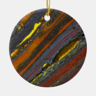 Striped Australian Tiger Eye Ceramic Ornament