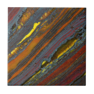 Striped Australian Tiger Eye Ceramic Tiles