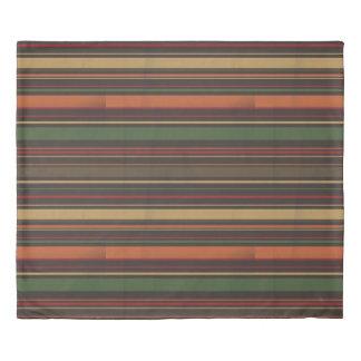Striped Autumn Inspired Reversible Duvet Cover