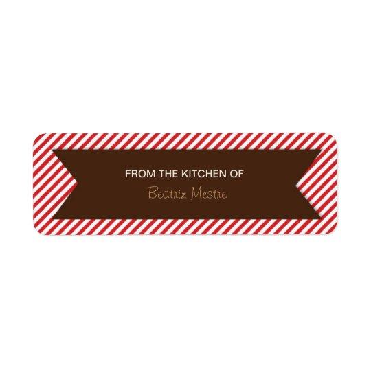 Striped Background Kitchen Labels