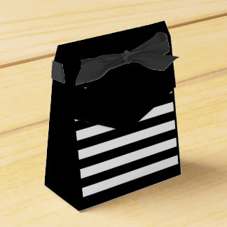 Striped bag favor box