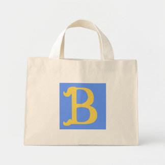 Striped Bag Monogrammed with the Letter B