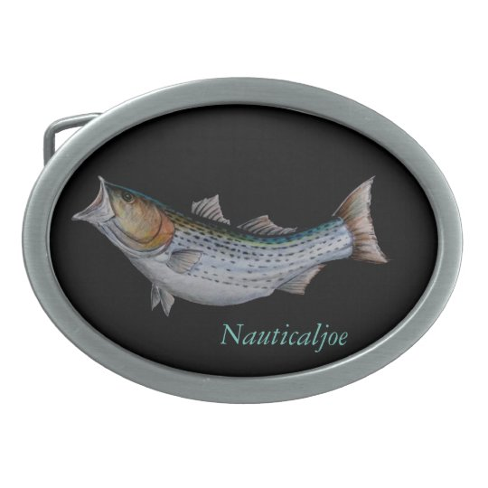 striped bass belt buckle