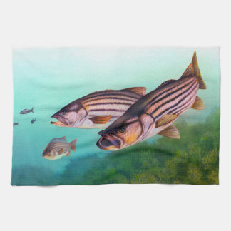 Striped Bass Kitchen Towel