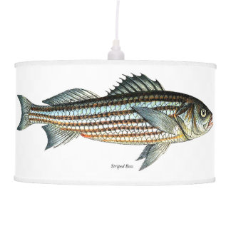 Striped Bass Lampshade Fishing Living room Decor Pendant Lamp
