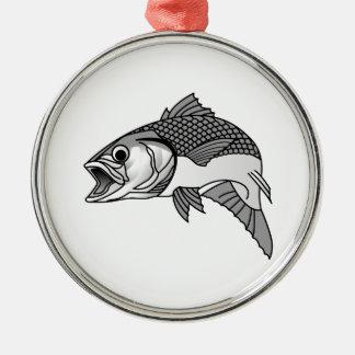 Striped Bass Metal Ornament
