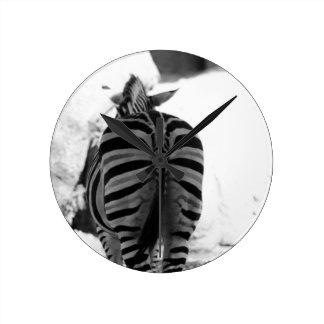 Striped Behind Round Clock