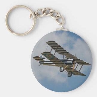 Striped Biplane Keychain