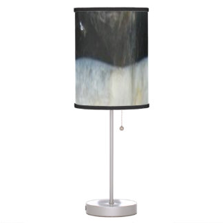 Striped Black Agate, Cool Unique Nature Stone Desk Lamps