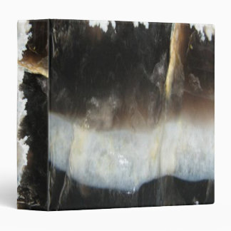 Striped Black Agate, Cool Unique Nature Stone Vinyl Binder