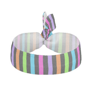 Striped Black and Multicolor Hair Tie