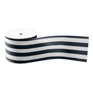 Striped (Black & White) Customizable Grosgrain Ribbon
