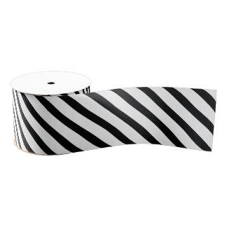 Striped (Black & White   Diagonal) Any Size Custom Grosgrain Ribbon