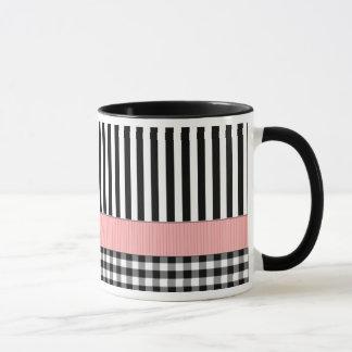 Striped Black White Pattern Design Mug
