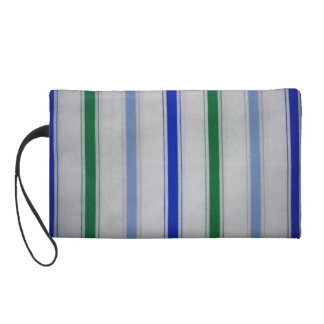 Striped blue & green on white Baggettes Bag