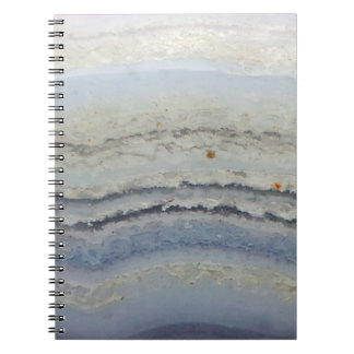 Striped Blue Lace Agate cool unique nature stone Notebook