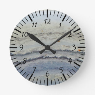 Striped Blue Lace Agate cool unique nature stone Wallclock