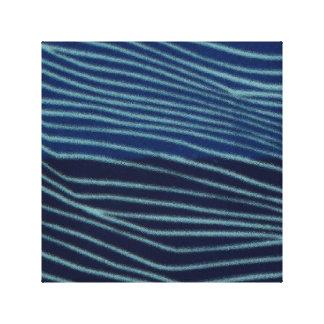 Striped Blue Waves Canvas Print