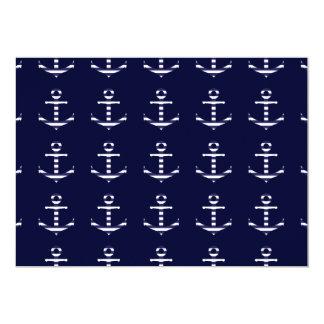 Striped blue white anchor card