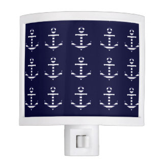 Striped blue white anchor nite lights