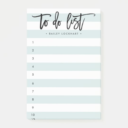 Striped Brush Lettered To-Do List Post-it Notes