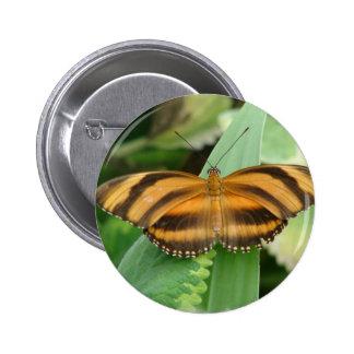 Striped Butterly Round Button