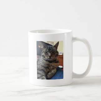 Striped cat coffee mug