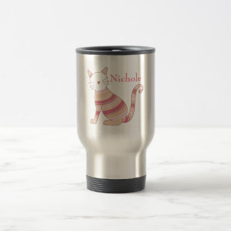 Striped Cat Travel Mug