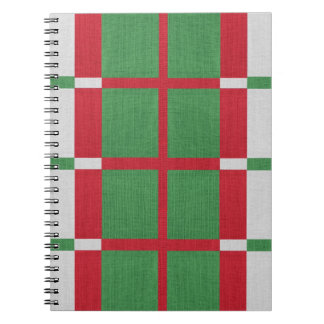 Striped Christmas Spiral Notebook