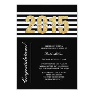 Striped Class of 2015 Graduation Invitation