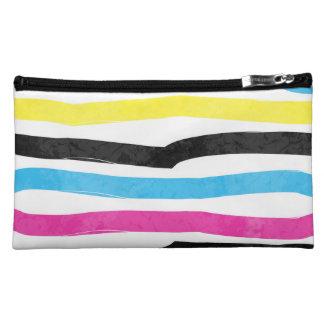 Striped Colorful Makeup Bag