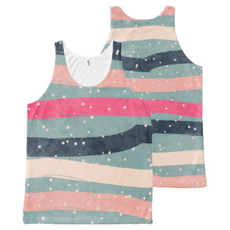 Striped Colorful  Pattern All-Over-Print Tank Top