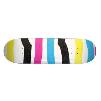 Striped Colorful Skateboard Deck