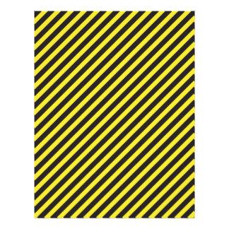 Striped Construction - Yellow & Black Diagonal Letterhead