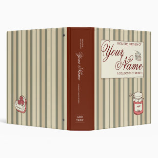 Striped Custom Cookbook Binders