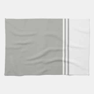 Striped, Customizable Neutral Color Kitchen Towel