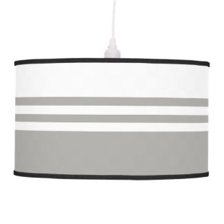 Striped, Customizable Neutral Color Pendant Lamp
