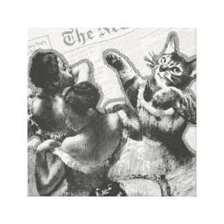 Striped dancers canvas print
