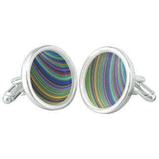 Striped fantasy cuff links