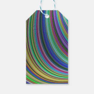 Striped fantasy pack of gift tags